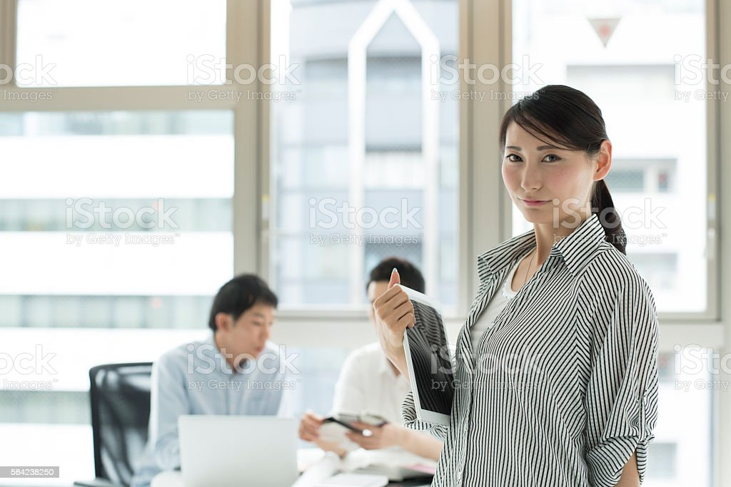 Woman with leadership. stock photo