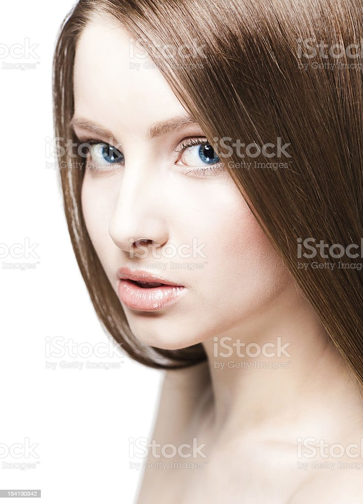 Woman with long beauty hair royalty-free stock photo