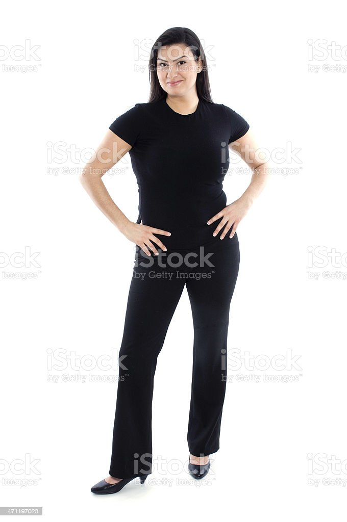 Woman with long brown hair royalty-free stock photo