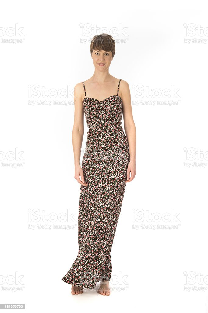 woman with long dress royalty-free stock photo