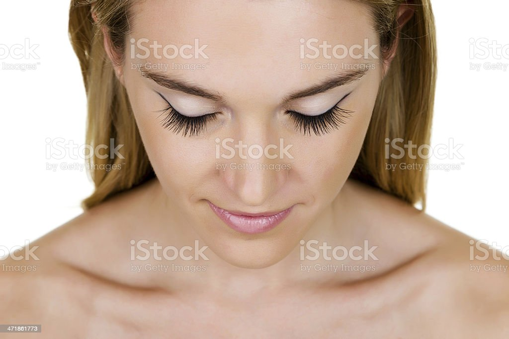 Woman with long eyelashes royalty-free stock photo
