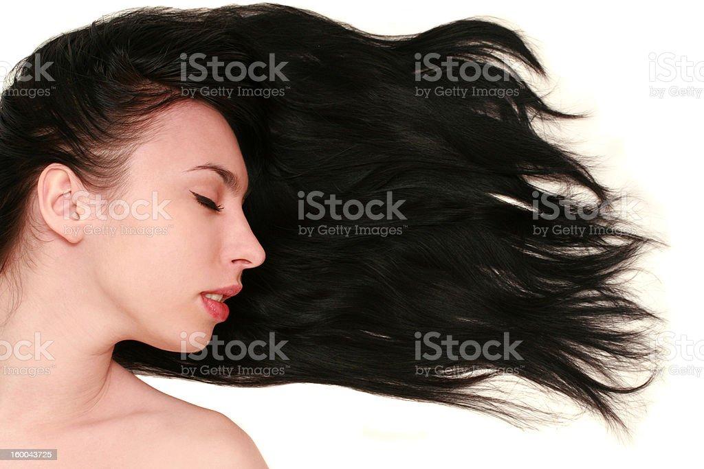 Frau mit langen Haar – Foto