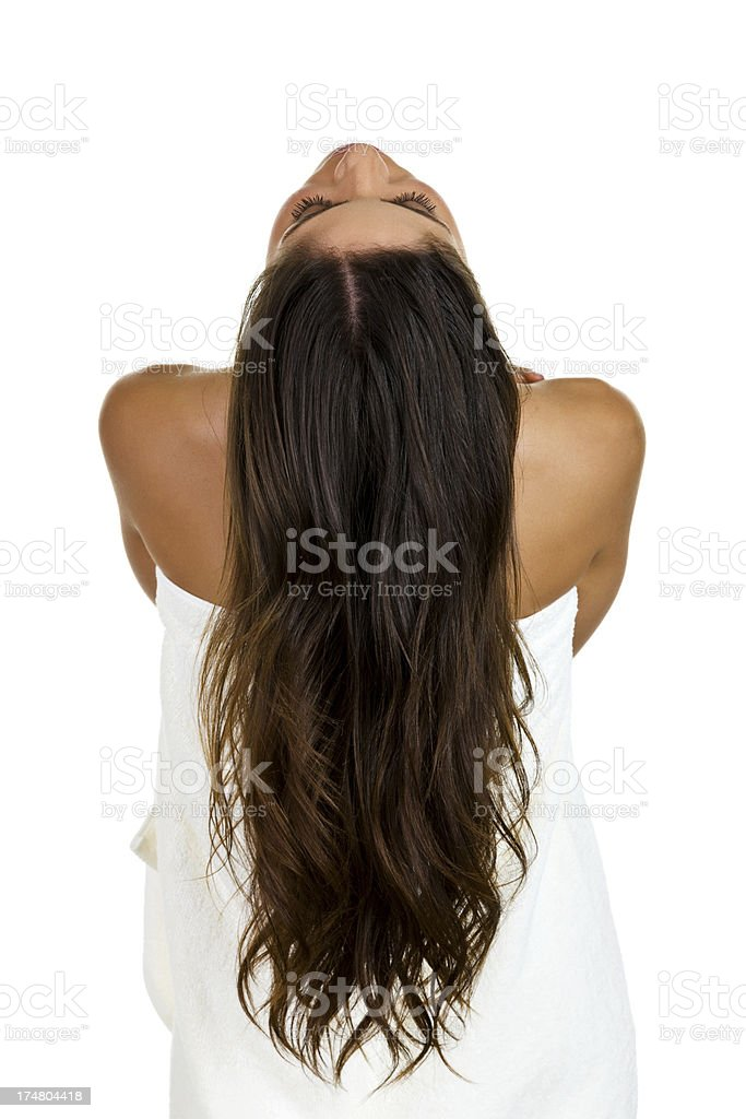 Woman with long hair royalty-free stock photo