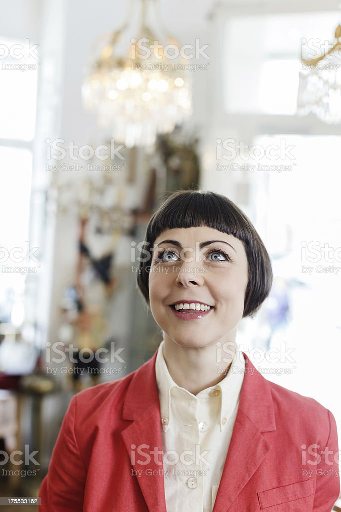 Woman with look of Awe stock photo