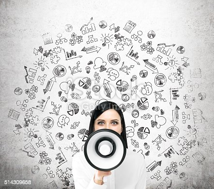 513123170 istock photo Woman with loudspeaker 514309658