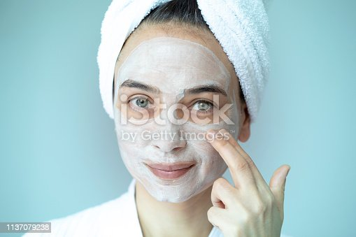 Woman with beauty mask.