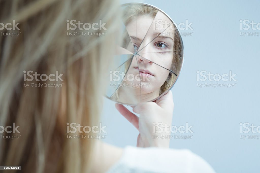 Woman with mental disorder - fotografia de stock