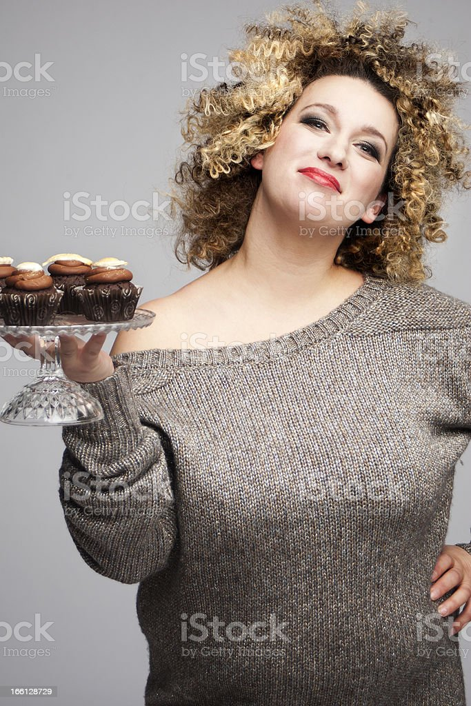 Woman with Muffins royalty-free stock photo