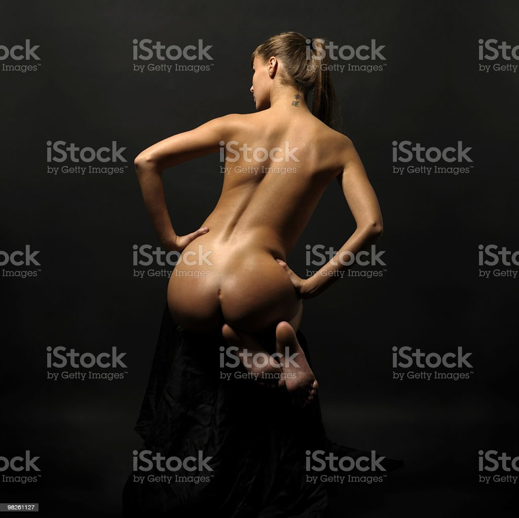 Woman with naked back royalty-free stock photo