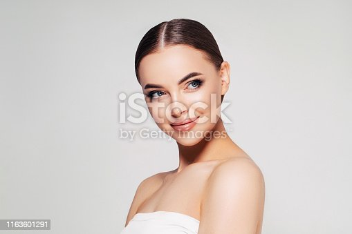 Woman with natural make-up