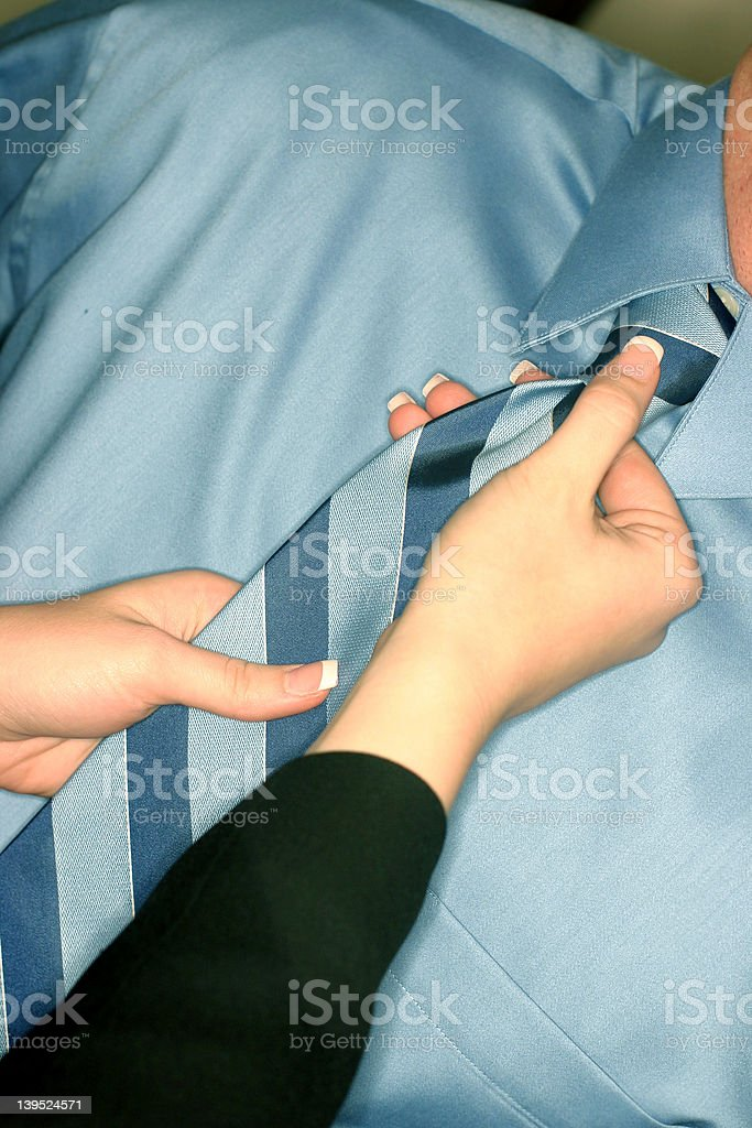 Woman with neck tie royalty-free stock photo