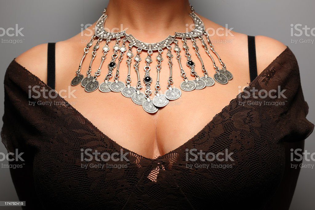 Woman with Necklace royalty-free stock photo