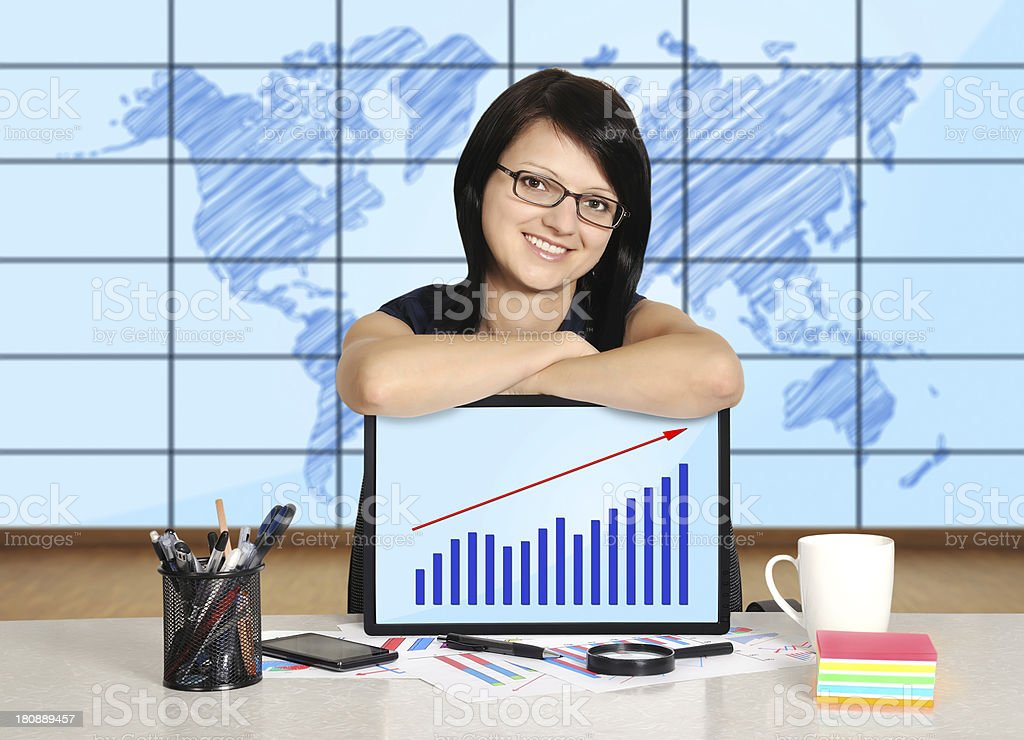 woman with note pad royalty-free stock photo