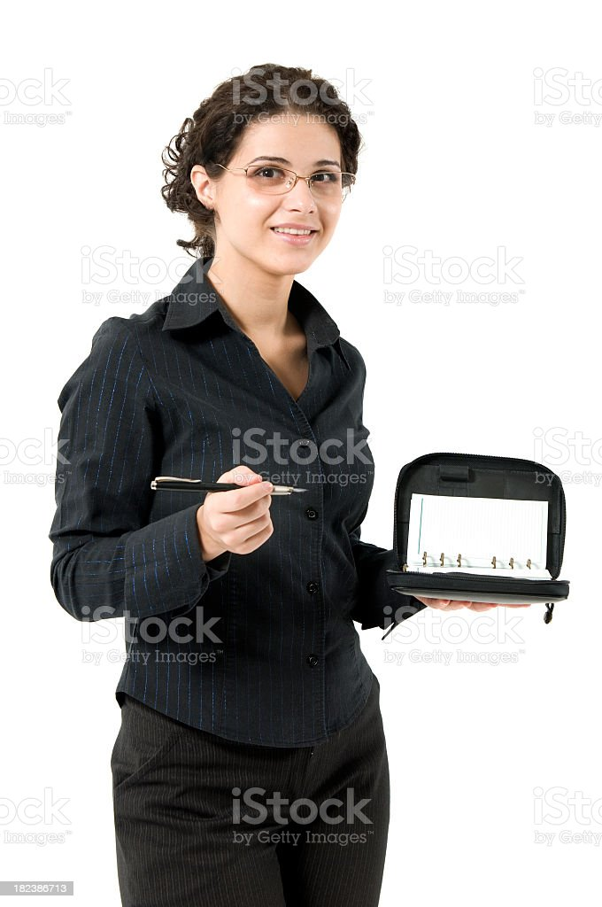 Woman with notebook royalty-free stock photo