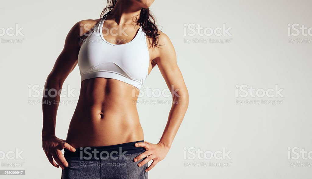Woman with perfect body stock photo
