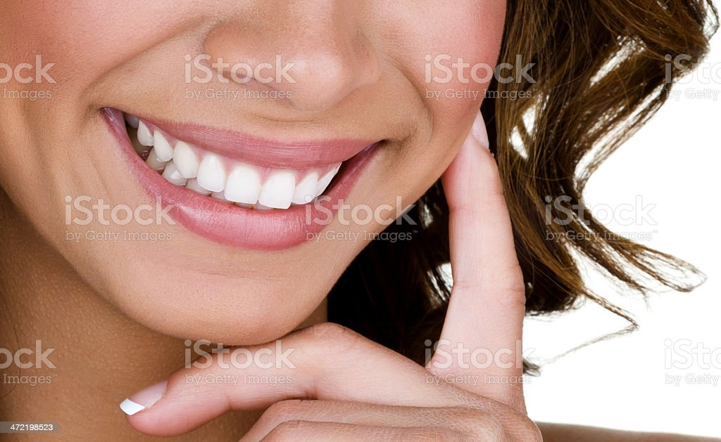 Woman with perfect teeth stock photo