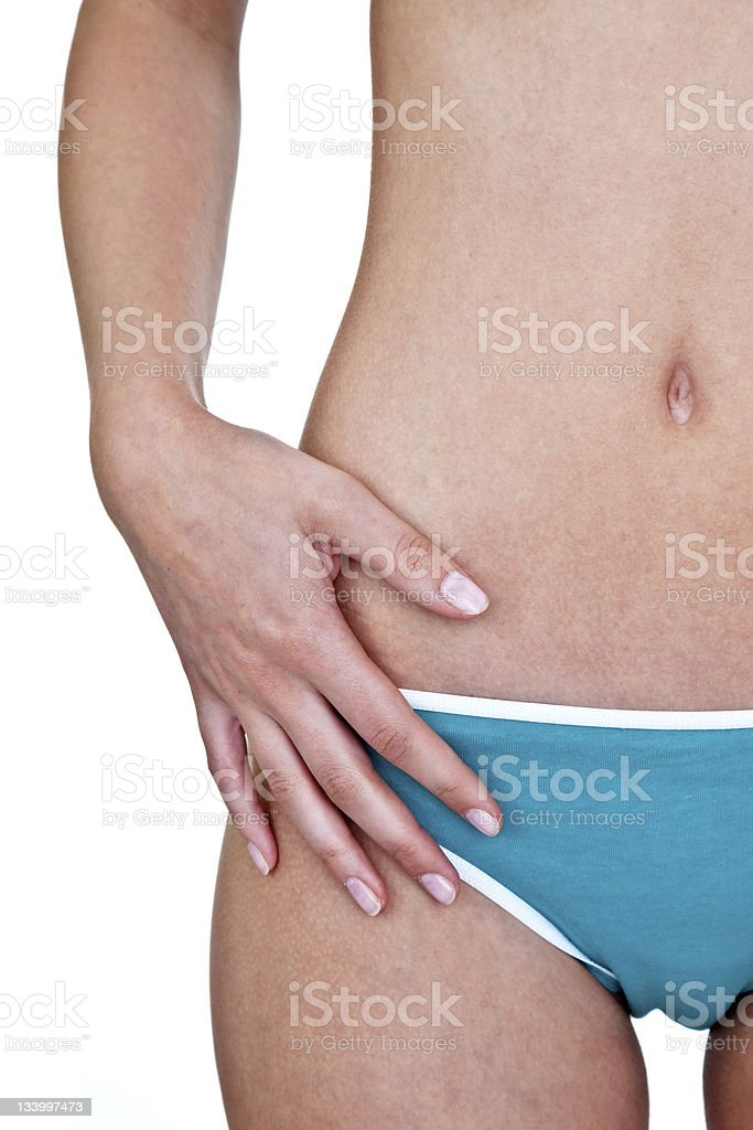 Woman with perfect waist royalty-free stock photo