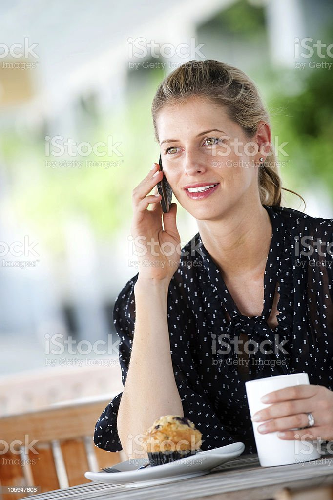 Woman with Phone royalty-free stock photo