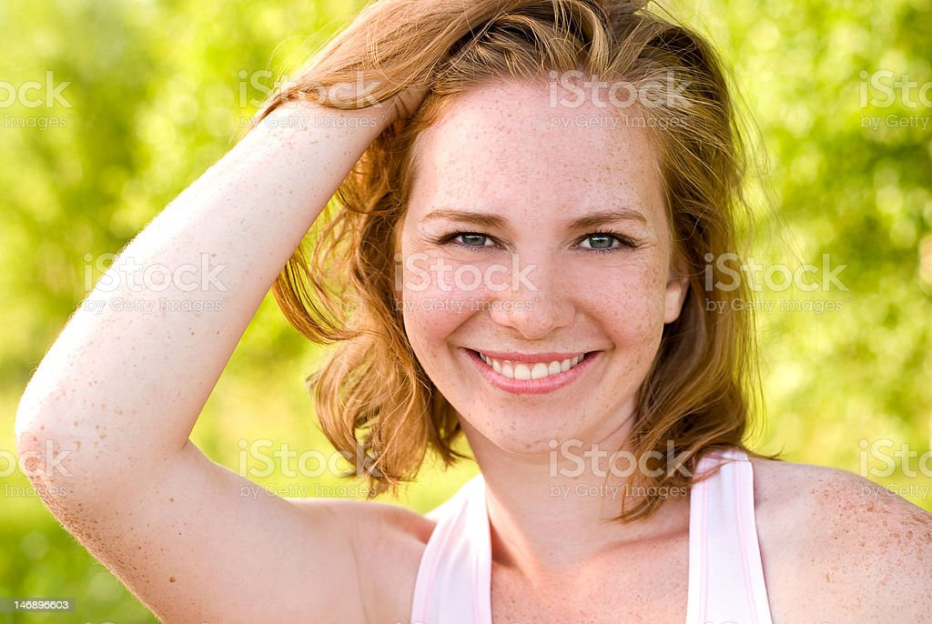 Woman with Red Hair royalty-free stock photo