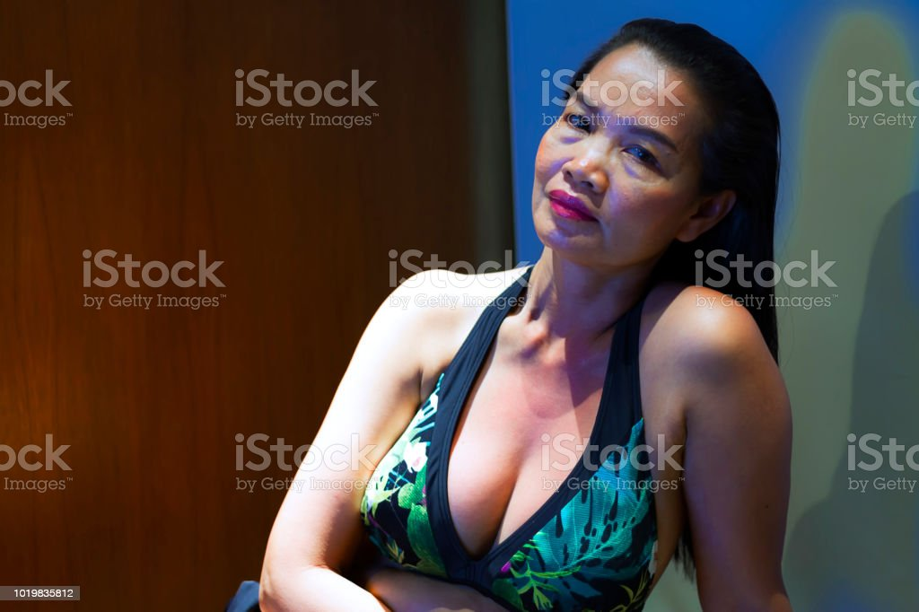 Woman with relax in private room after work in Thailand