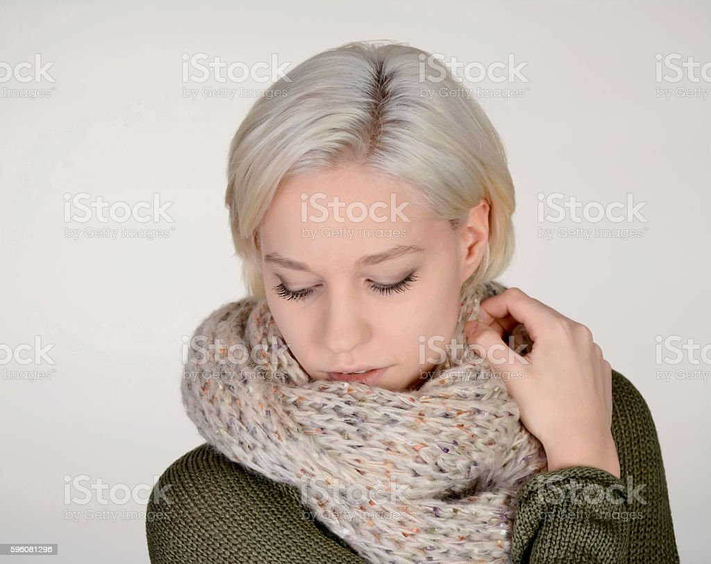 woman with scarf royalty-free stock photo