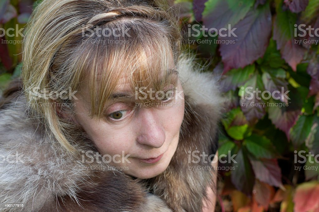 Woman With Scattered Look stock photo