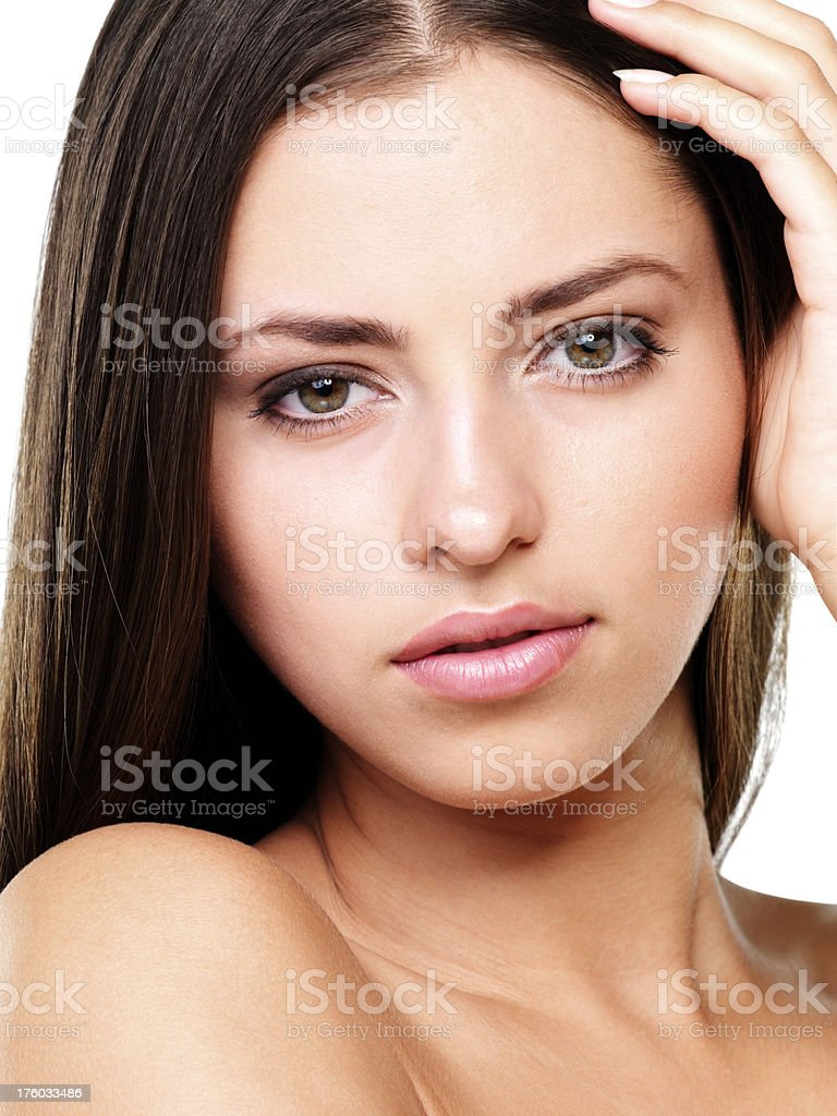Woman with sensuous look stock photo