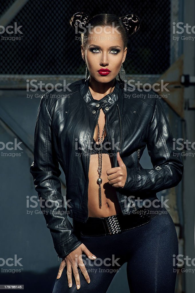 Woman with serious intentions royalty-free stock photo