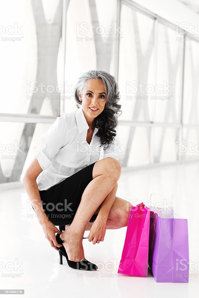 Woman with shopping bags royalty-free stock photo