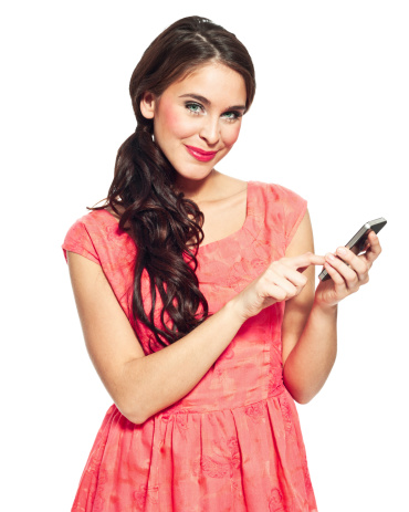 Woman With Smart Phone Stock Photo - Download Image Now