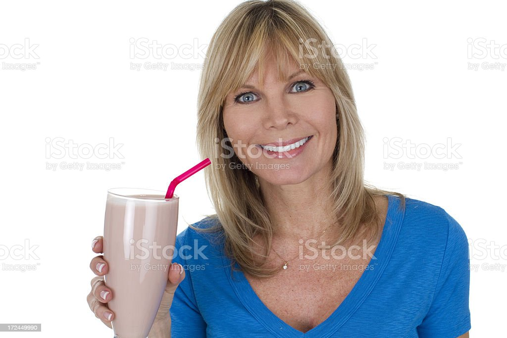 woman with smoothie royalty-free stock photo