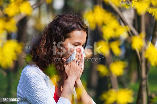istock Woman with spring flu 530495537
