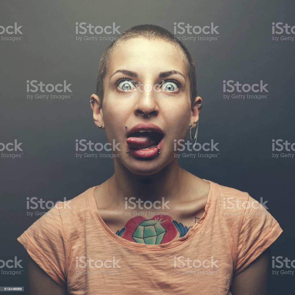 Woman with tattoo stock photo