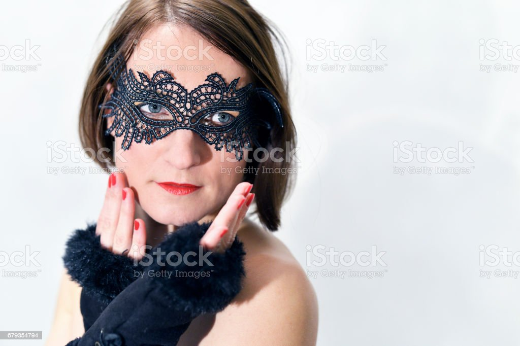Woman with the mask royalty-free stock photo