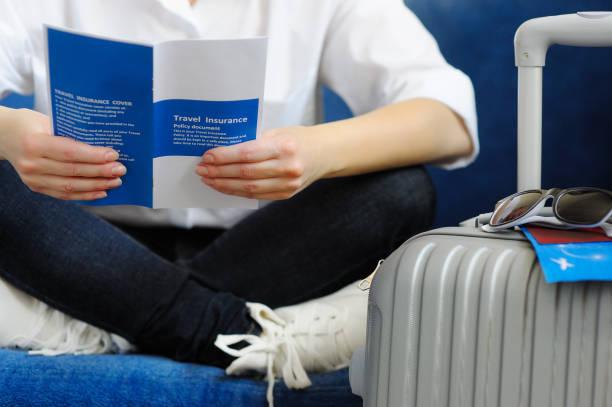 Woman with the suitcase goes on a journey read travel insurance picture id667361470?b=1&k=6&m=667361470&s=612x612&w=0&h=enlgaczsydclowqt2wr4xsk8deejk7u2cyoak2qziws=