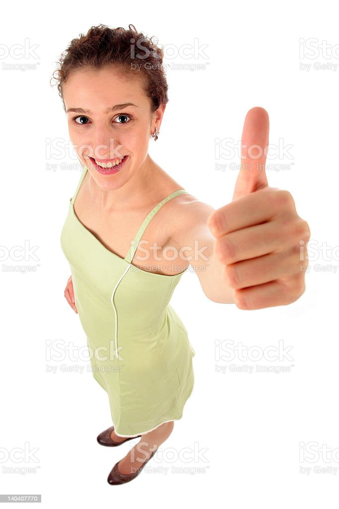 Woman With Thumb Up royalty-free stock photo