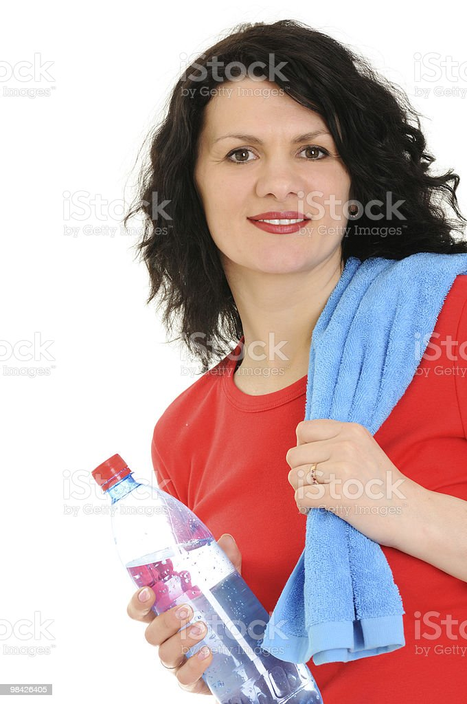 woman with towel royalty-free stock photo