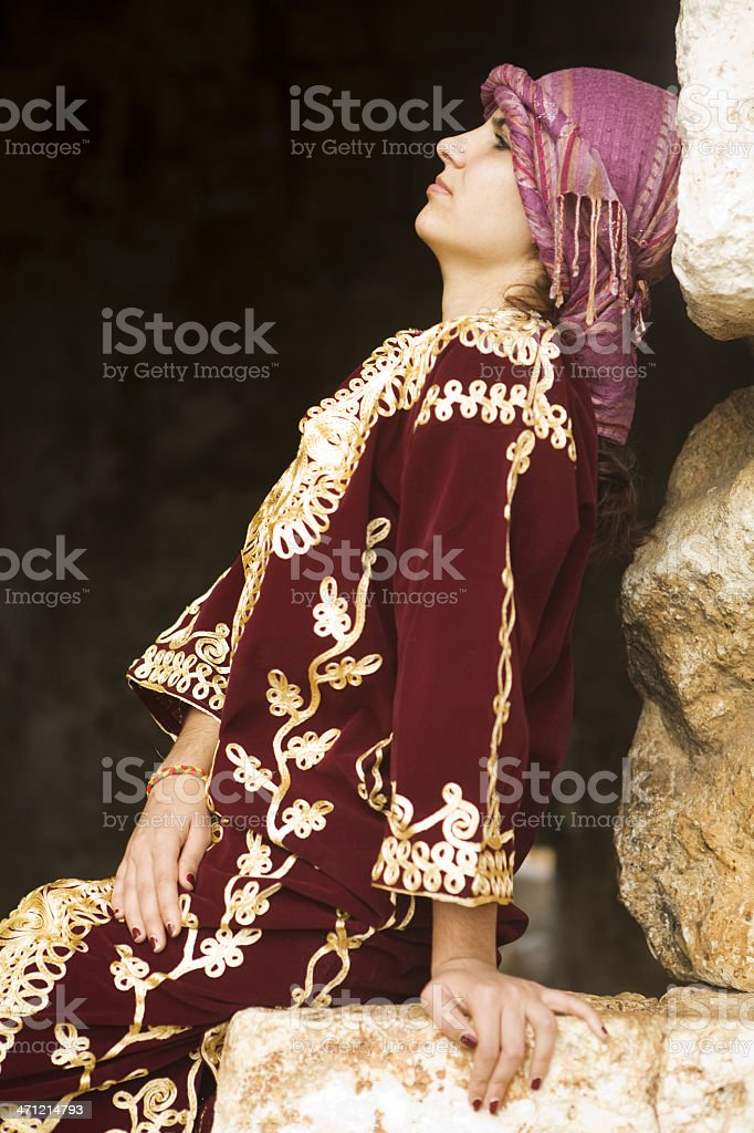 Woman with traditional clothing stock photo