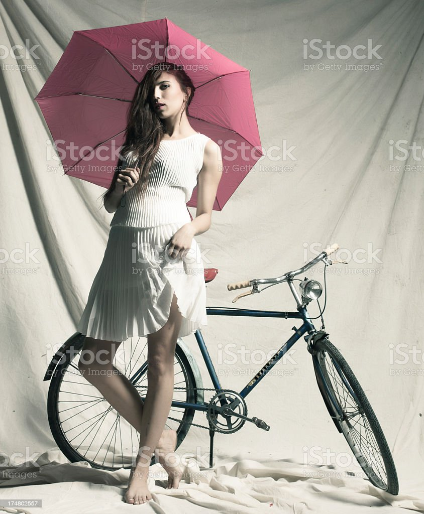 Woman with umbrella. royalty-free stock photo