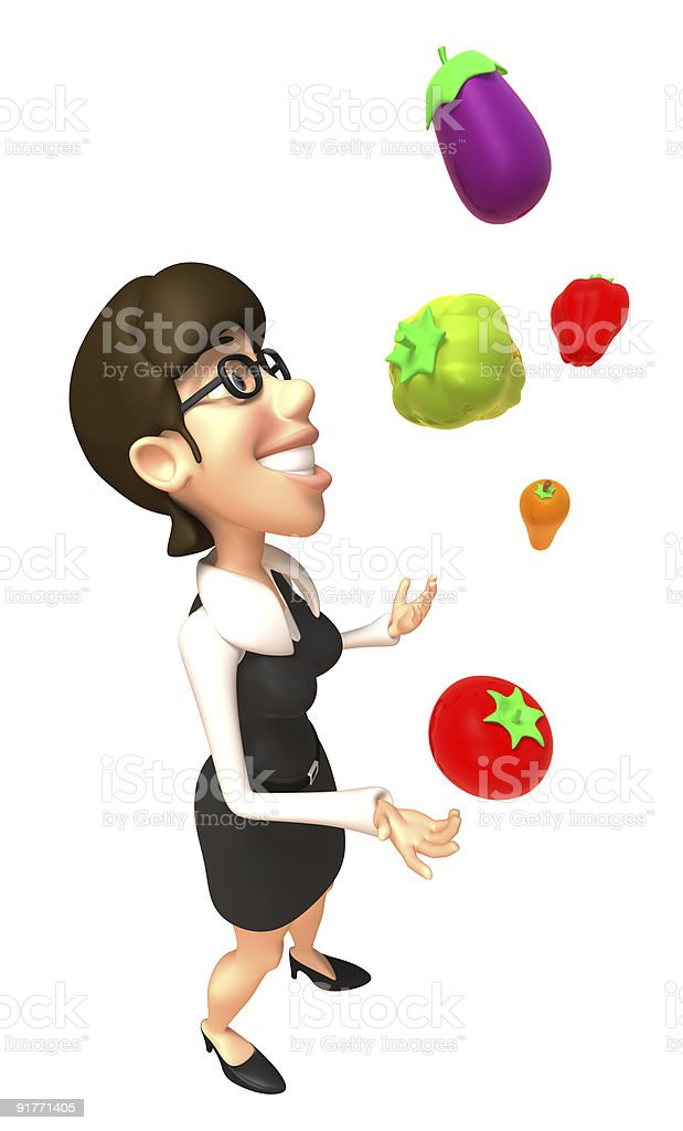 Woman with vegetables royalty-free stock photo