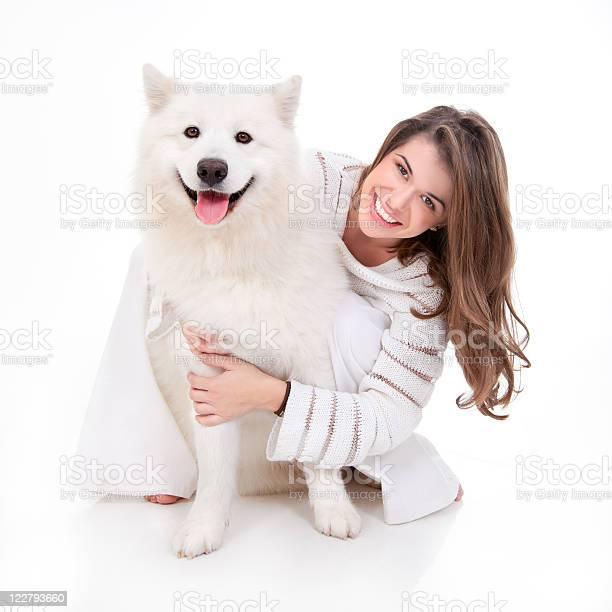 Woman with white dog smiling picture id122793660?b=1&k=6&m=122793660&s=612x612&h=i3adfackijwm2bn0lj2gr5utct3ehczjj58ftbnpj8g=