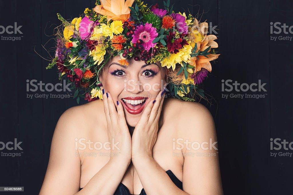 Kobieta z Wieniec kwiatów – zdjęcie