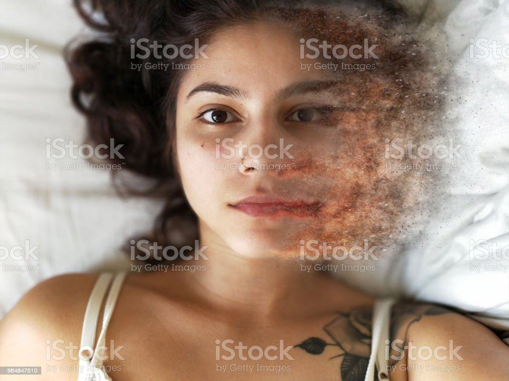 woman without makeup royalty-free stock photo