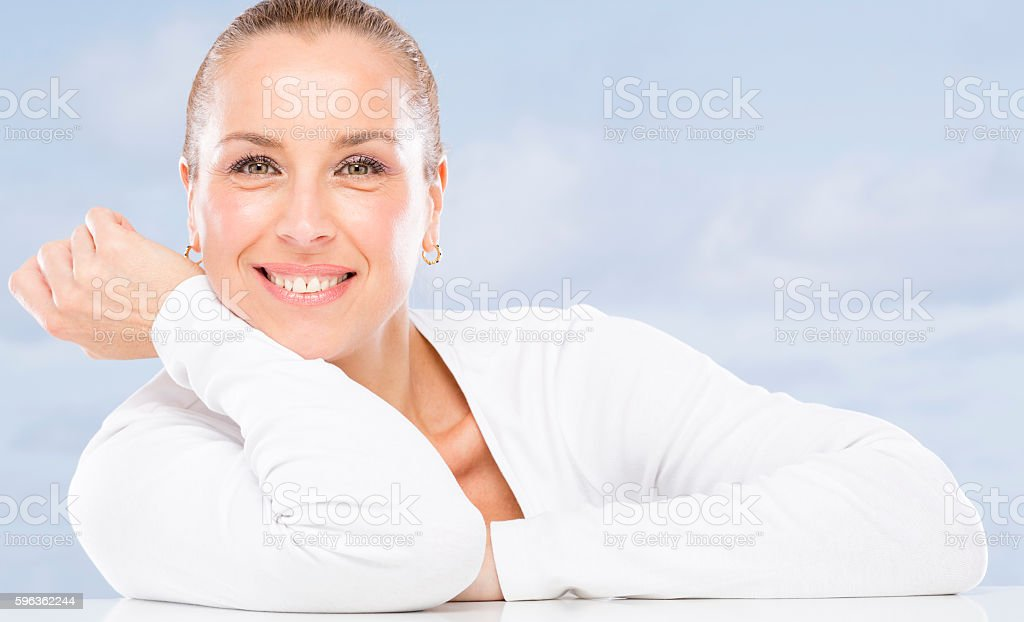 Woman without wrinkles. royalty-free stock photo