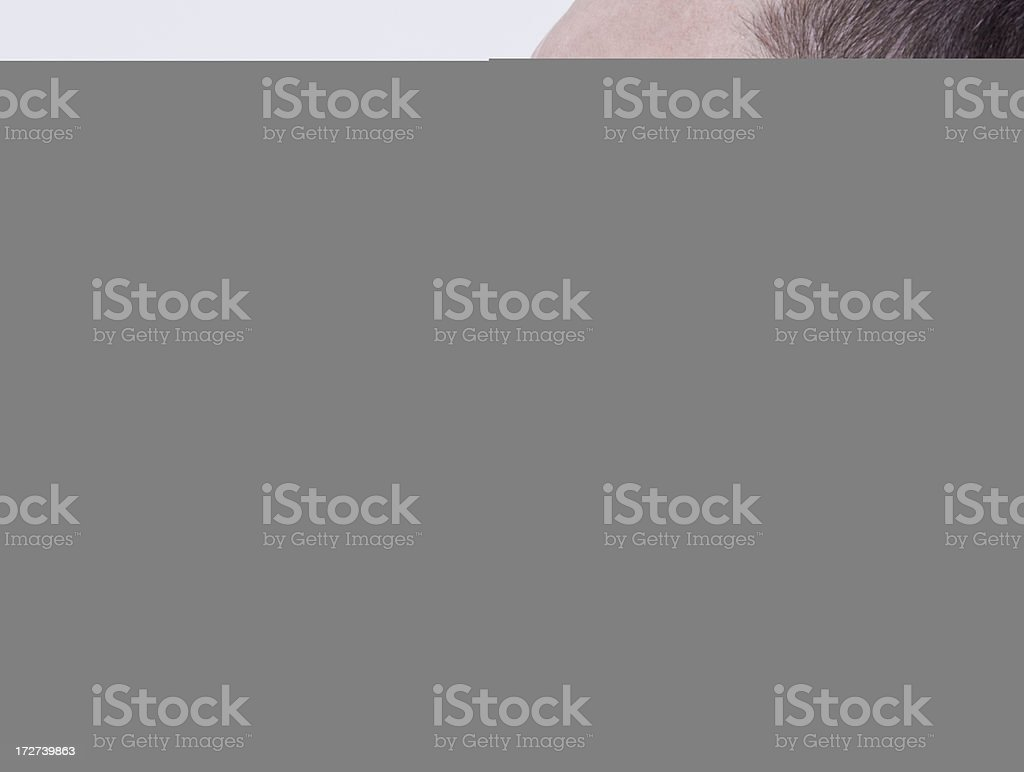 Woman worker with red hard hat royalty-free stock photo
