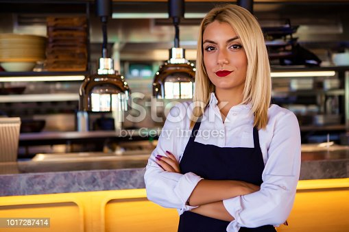 1066358064istockphoto Woman working at a restaurant 1017287414