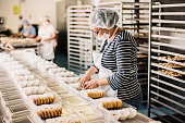 Mexican Woman working at Bakery Workshop