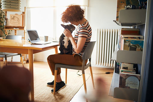 istock Woman working at home doing home finances. 956031216