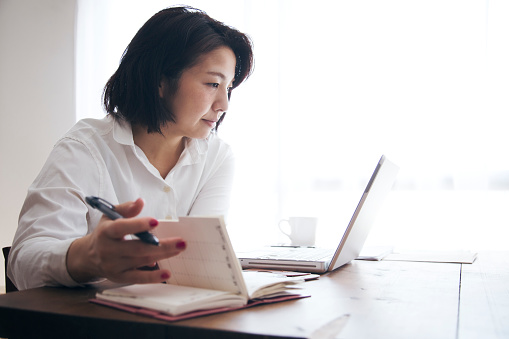 istock Woman working at home 905869692