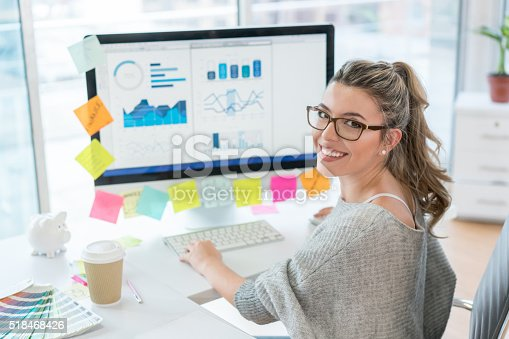 istock Woman working at the office 518468426